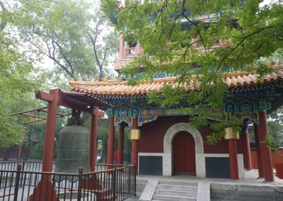 Lama Temple pagoda and bell